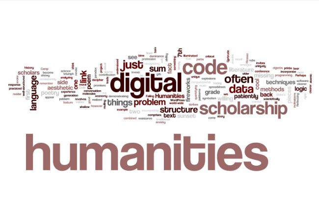 Typographic art with the topic of digital humanities