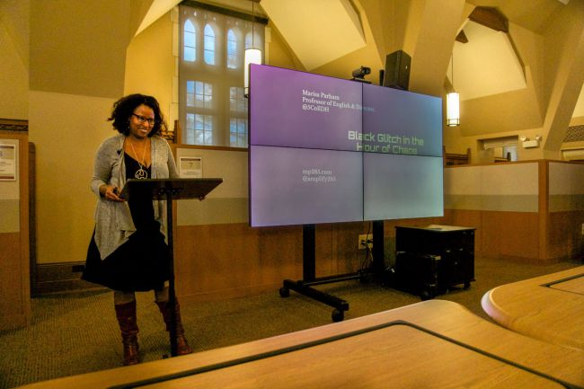 An image of guest lecturer Marisa Parham