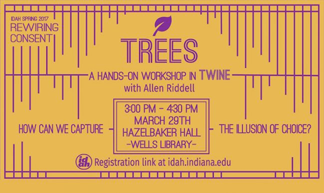 A promotional banner for the TREES workshop
